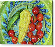 Acrylic Print featuring the mixed media Garden Harvest by Shawna Rowe