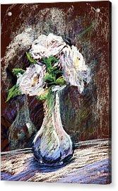 Garden Icebergs Pastel Acrylic Print by Athena Mantle