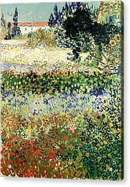 Acrylic Print featuring the painting Garden In Bloom by Van Gogh