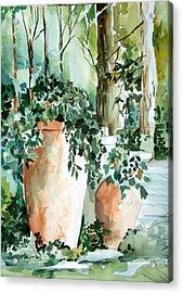 Garden In Capri Acrylic Print by Mindy Newman