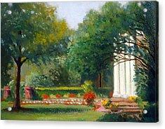 Garden In Nj Impression Acrylic Print by David Olander