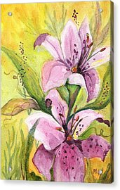 Garden Lilies Acrylic Print