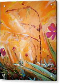 Acrylic Print featuring the painting Garden Moment by Winsome Gunning