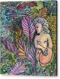 Garden Muse Acrylic Print by Mindy Newman
