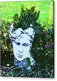 Garden Nymph Head Planter Acrylic Print