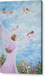 Garden Of Angels Acrylic Print by Joni McPherson