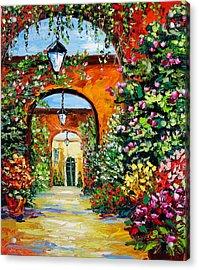 Garden Of Arches Acrylic Print by Beata Sasik