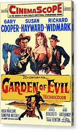 Garden Of Evil 1954 Acrylic Print by Mountain Dreams
