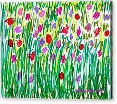 Garden Of Flowers Acrylic Print