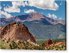 Garden Of The Gods And Pikes Peak Acrylic Print by Bill Gallagher