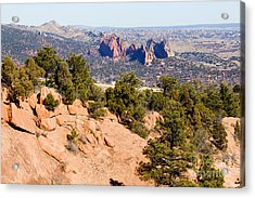 Garden Of The Gods And Springs West Side Acrylic Print