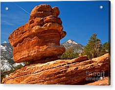 Acrylic Print featuring the photograph Garden Of The Gods Balanced Rock by Adam Jewell