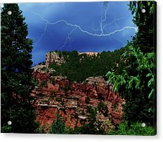 Acrylic Print featuring the digital art Garden Of The Gods by Chris Flees