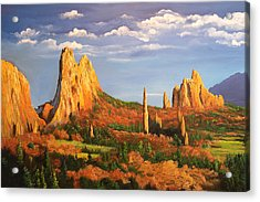 Garden Of The Gods Acrylic Print by Connie Tom