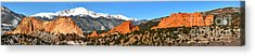 Acrylic Print featuring the photograph Garden Of The Gods Extended Panorama by Adam Jewell