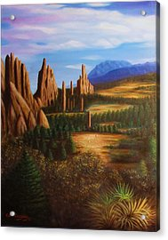Garden Of The Gods.  Acrylic Print by Gene Gregory