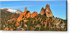 Acrylic Print featuring the photograph Garden Of The Gods High Point Panorama by Adam Jewell