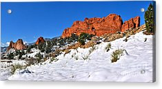 Acrylic Print featuring the photograph Garden Of The Gods Red And White by Adam Jewell