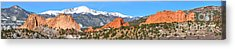 Acrylic Print featuring the photograph Garden Of The Gods Spring Panorama by Adam Jewell