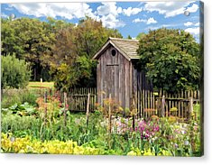 Garden Outhouse At Old World Wisconsin Acrylic Print