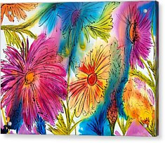 Garden Party Acrylic Print by Jane Robinson