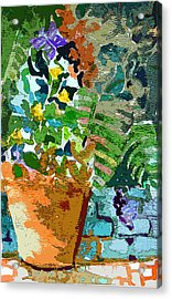 Garden Party Acrylic Print by Mindy Newman