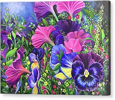 Acrylic Print featuring the painting Garden Party by Nancy Cupp