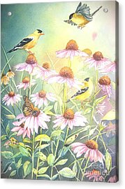 Garden Party Acrylic Print by Patricia Pushaw