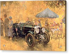 Garden Party With The Bentley Acrylic Print by Peter Miller