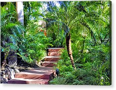 Garden Path Acrylic Print by Jim Walls PhotoArtist