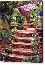 Garden Patio Stairway Acrylic Print by David Lloyd Glover