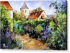 Garden Pleasures Acrylic Print by Rae Andrews