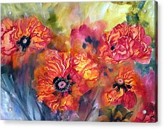 Garden Poppies Acrylic Print