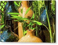 Garden Pottery Jugs Acrylic Print