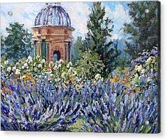 Garden Profusion - Lavendar Acrylic Print by L Diane Johnson
