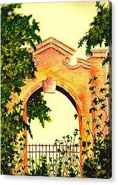 Garden Scene Acrylic Print