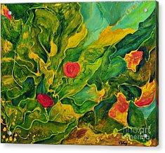 Acrylic Print featuring the painting Garden Series by Teresa Wegrzyn