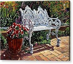 Garden Sitting Place Acrylic Print by David Lloyd Glover