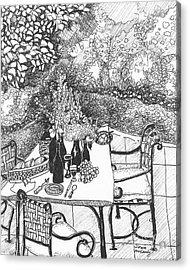 Garden Table Acrylic Print by Jo Anna McGinnis