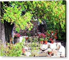 Garden Terrace Acrylic Print by Desiree Paquette
