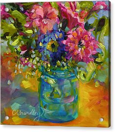 Acrylic Print featuring the painting Garden Treasures by Chris Brandley