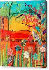 Garden Walls Acrylic Print by Suzanne Kfoury