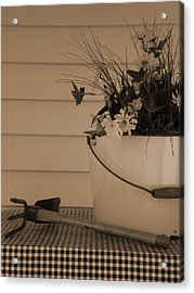 Gardening Acrylic Print by Utopia Concepts