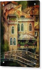 Acrylic Print featuring the digital art Gardening Venice Style by Lois Bryan