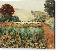 Gardens At Monticello Acrylic Print by Alan Mager