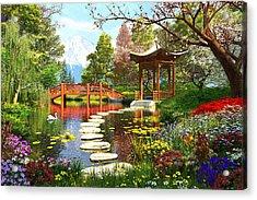 Gardens Of Fuji Acrylic Print by Dominic Davison