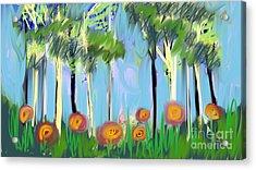 Gardenscape 1 Acrylic Print by Elaine Lanoue
