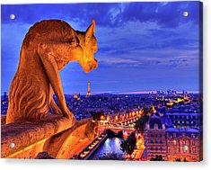 Gargoyle De Paris Acrylic Print by Traumlichtfabrik