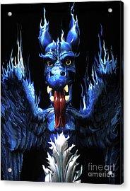 Acrylic Print featuring the photograph Gargoyle by Jim and Emily Bush