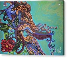 Gargoyle Lion Acrylic Print by Genevieve Esson